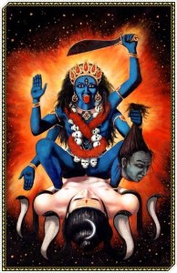 KALI COMES OUT OF DURGA TO KILL MEN:  MALE EXTINCTION