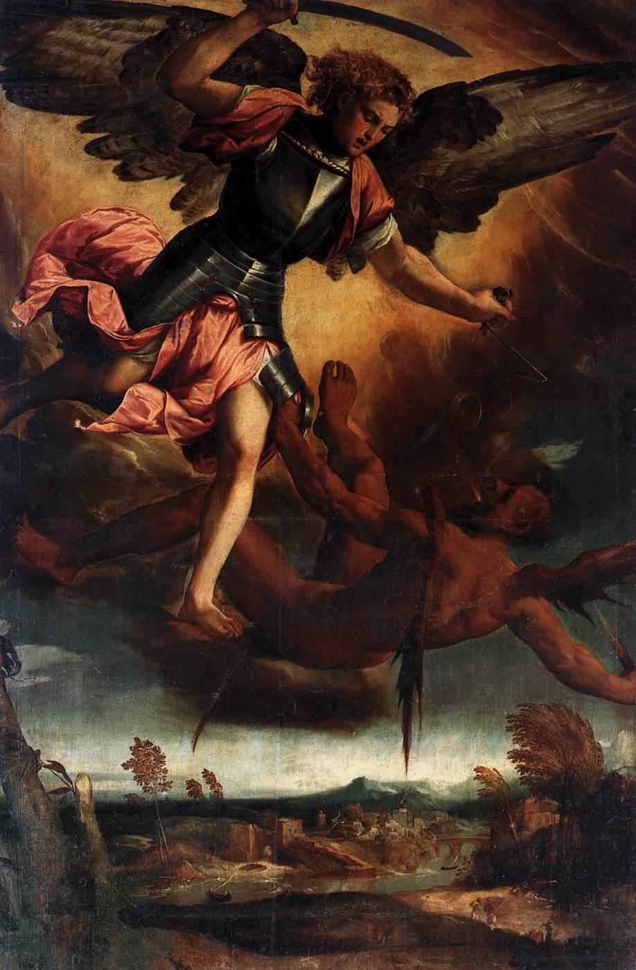 Bonifazio_Veronese_San_Miguel_derrota_al_diablo_1530_Santi_Giovanni_e_Paolo_Venecia