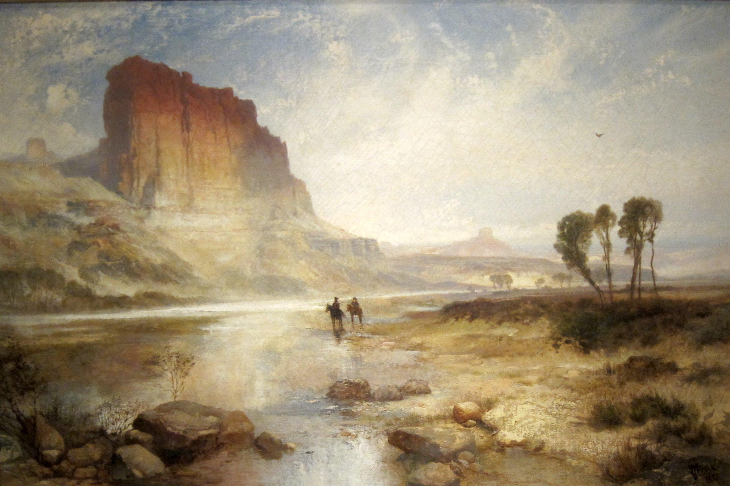 'The_Cliffs_of_Green_River,_Wyoming_Territory'_by_Thomas_Moran,_Cincinnati