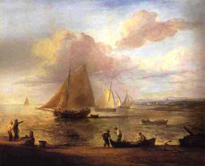 Thomas-Gainsborough-Coastal-Scene-a-Calm