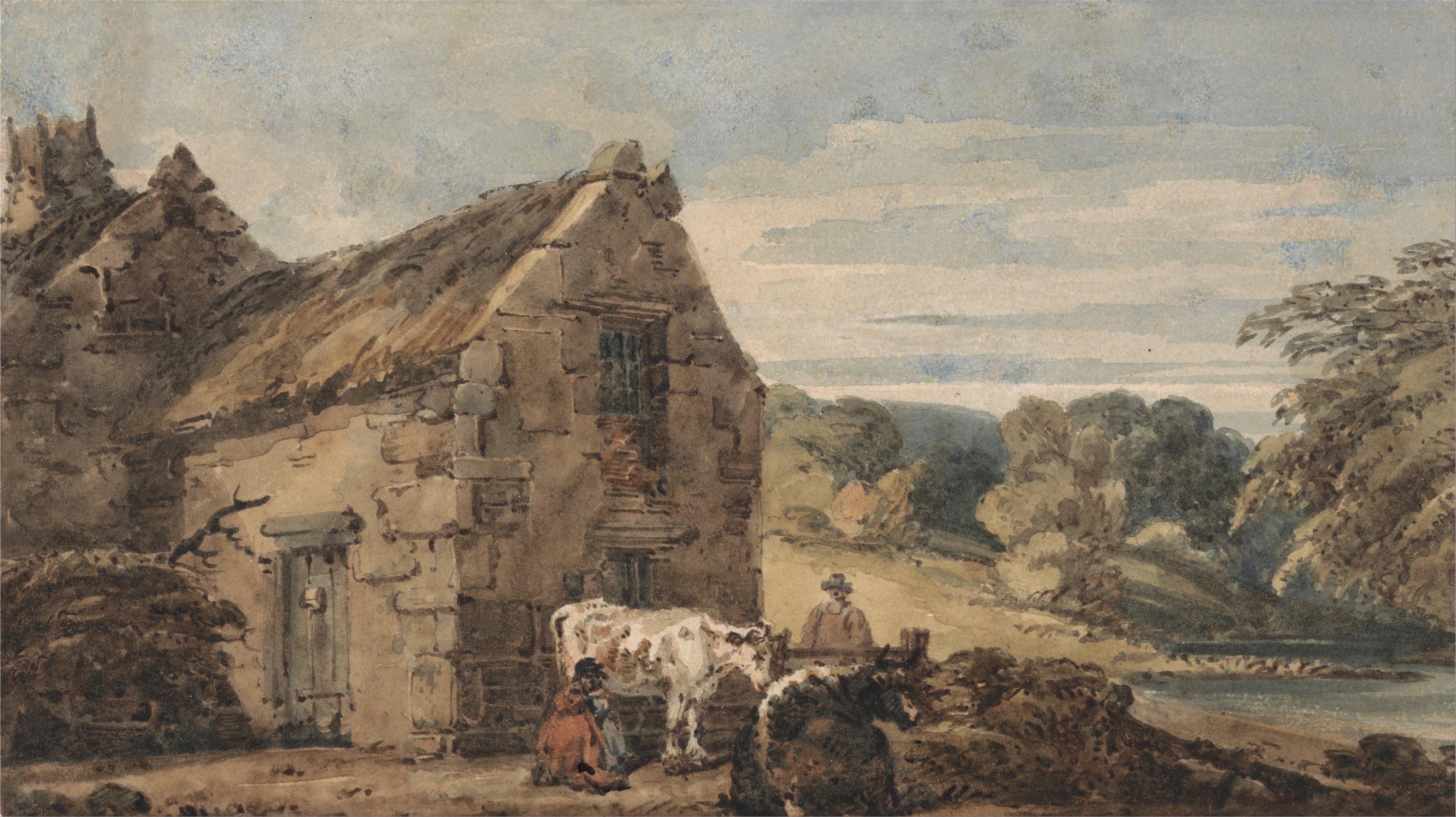 Thomas_Girtin_-_Cottage_near_Newcastle,_Northumberland_-_Google_Art_Project