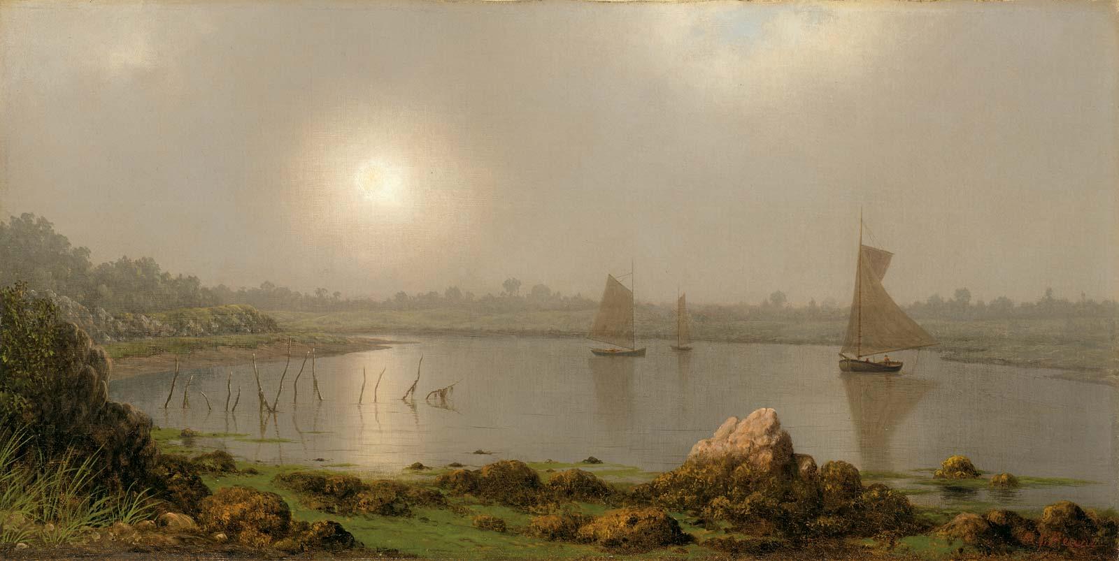 York-Harbor-oil-canvas-Maine-Martin-Johnson-1877