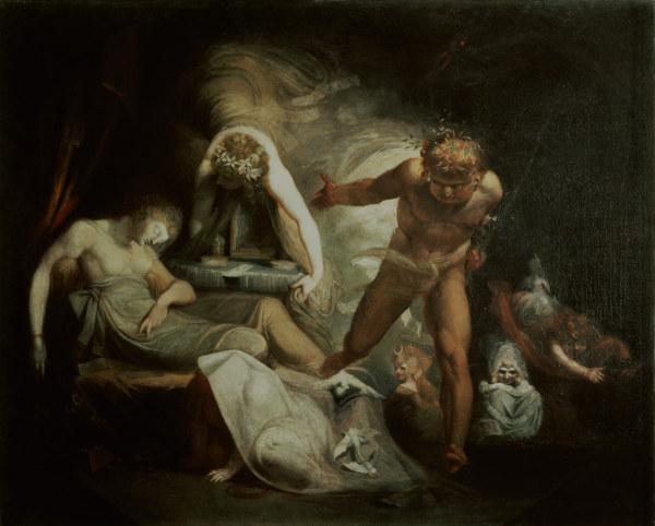 Fuessli, Belindas Traum/Gem. um 1780-90 - Fuseli / Belinda's Dream / c. 1780/90 -
