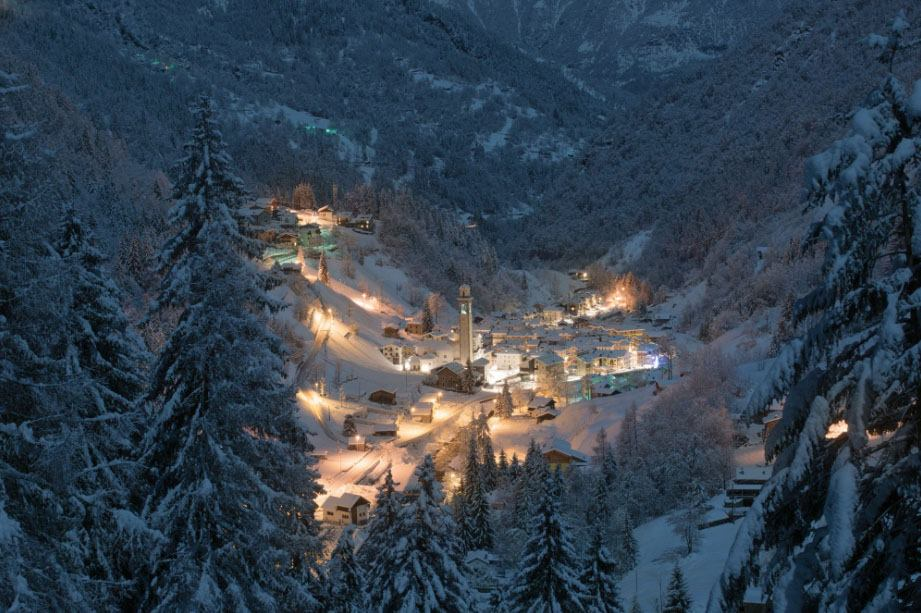 Night On Alps, Gerola Alta, Italy