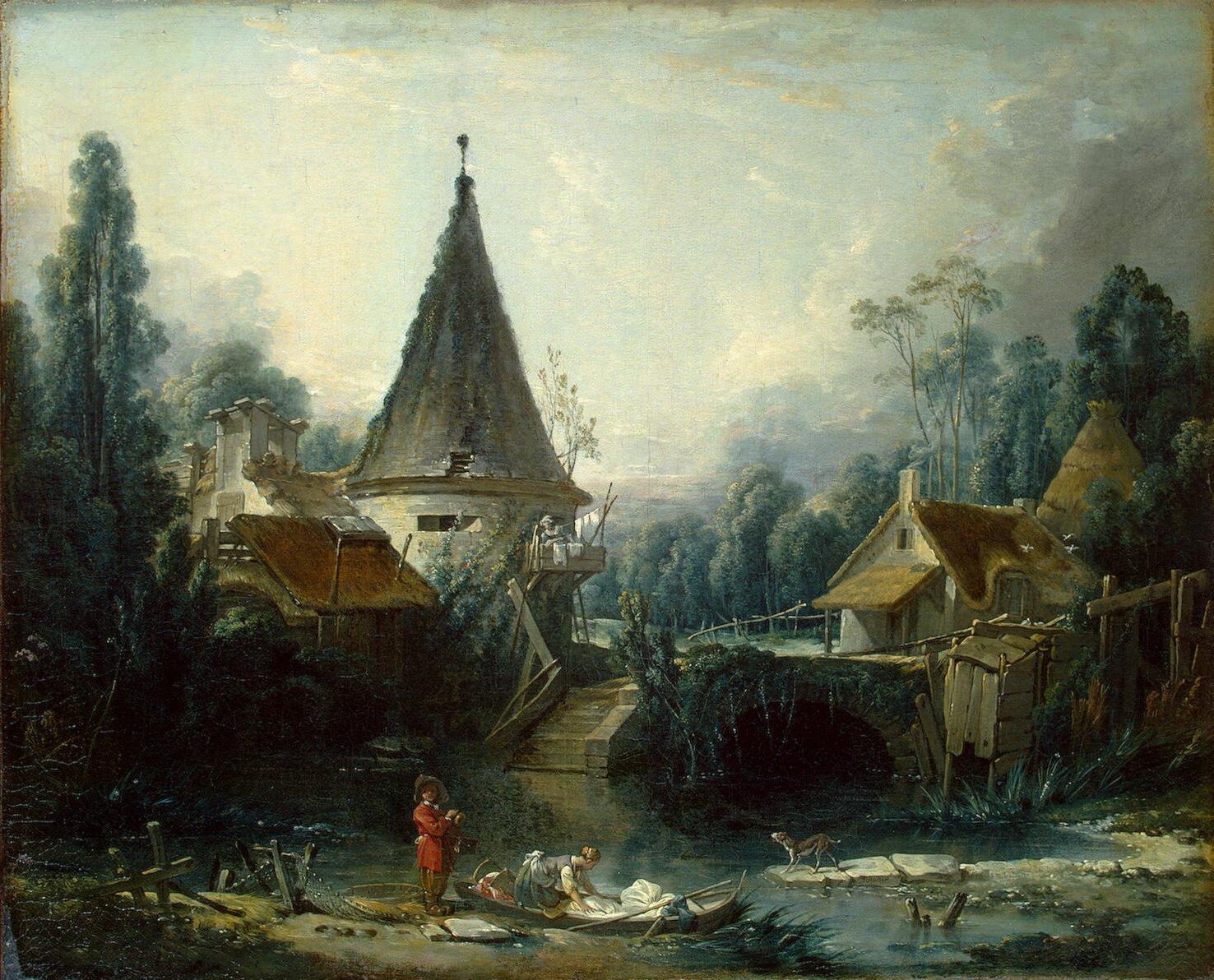 Boucher-Francois-Landscape-Near-Beauvais