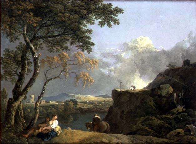 The-White-Monk-Richard-Wilson-oil-painting-1