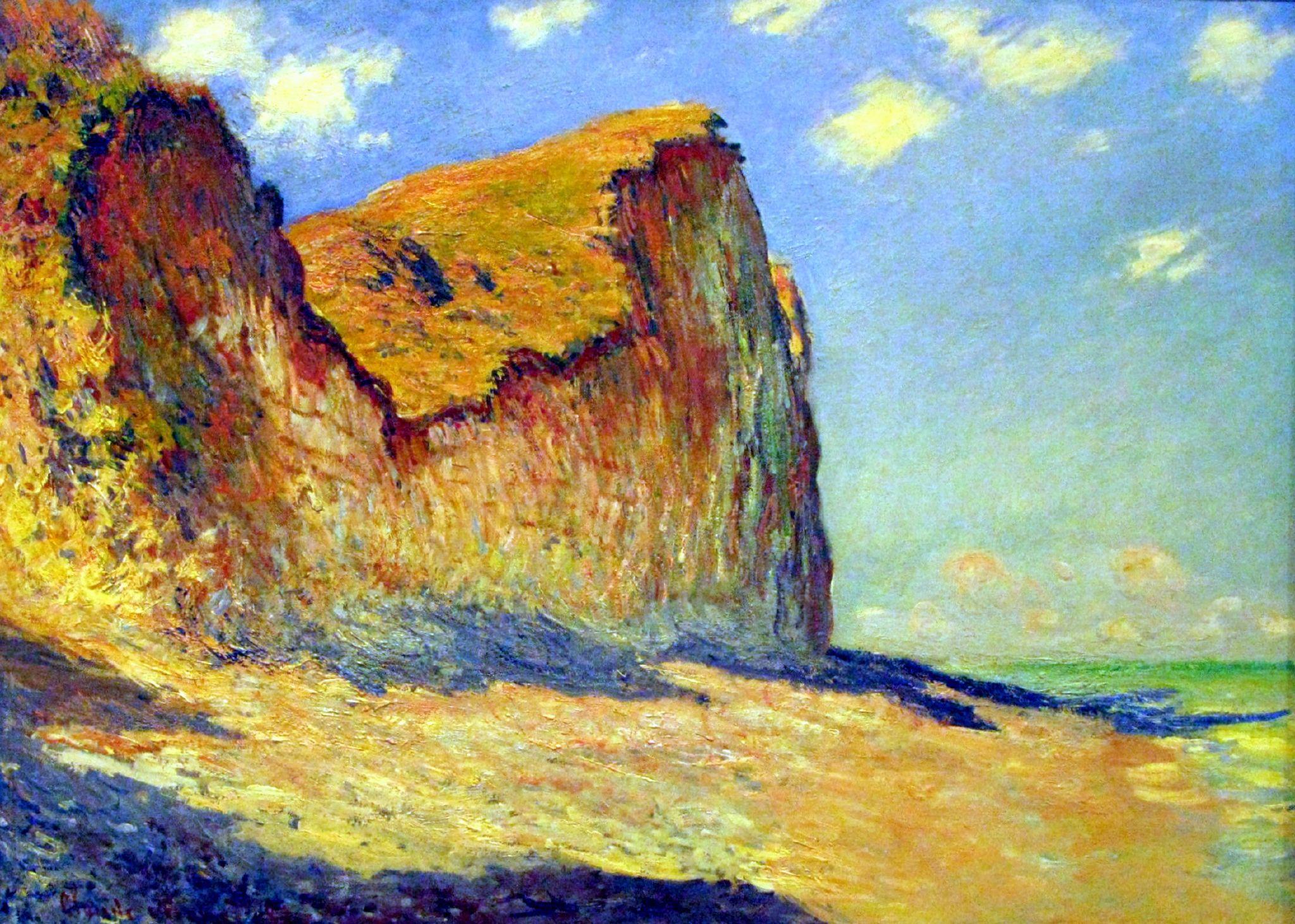 WLANL_-_andrevanb_-_Falaises_près_de_Pourville,_Claude_Monet,_1882