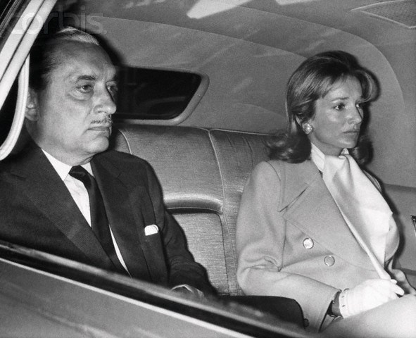 Prince Stanislas Radziwill and Lee Radziwill Driving to Airport