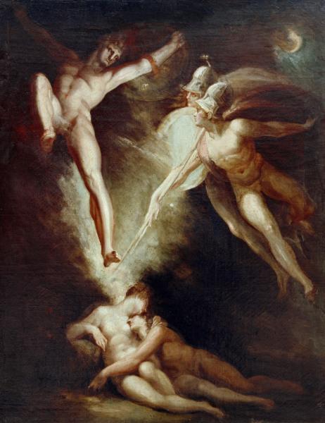 J.H.Fuessli, Satan flieht.. - J.H.Fuessli / Satan starting... / 1802 - J.H. Fuessli, Satan fuit...