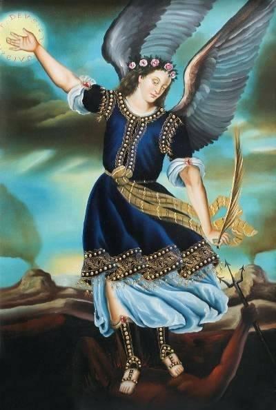 st-michael-painting-saint-steps-upon-the-devil-school-replica-painting-of-saint-st-michael-paintings-for-sale