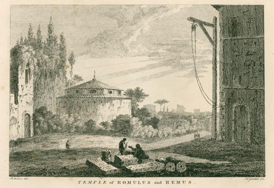 Boydell, John; Gandon, James; Wilson, Richard; Richard Wilson, 'Twelve original views in Italy', [1776]; Temple of Romulus and Remus