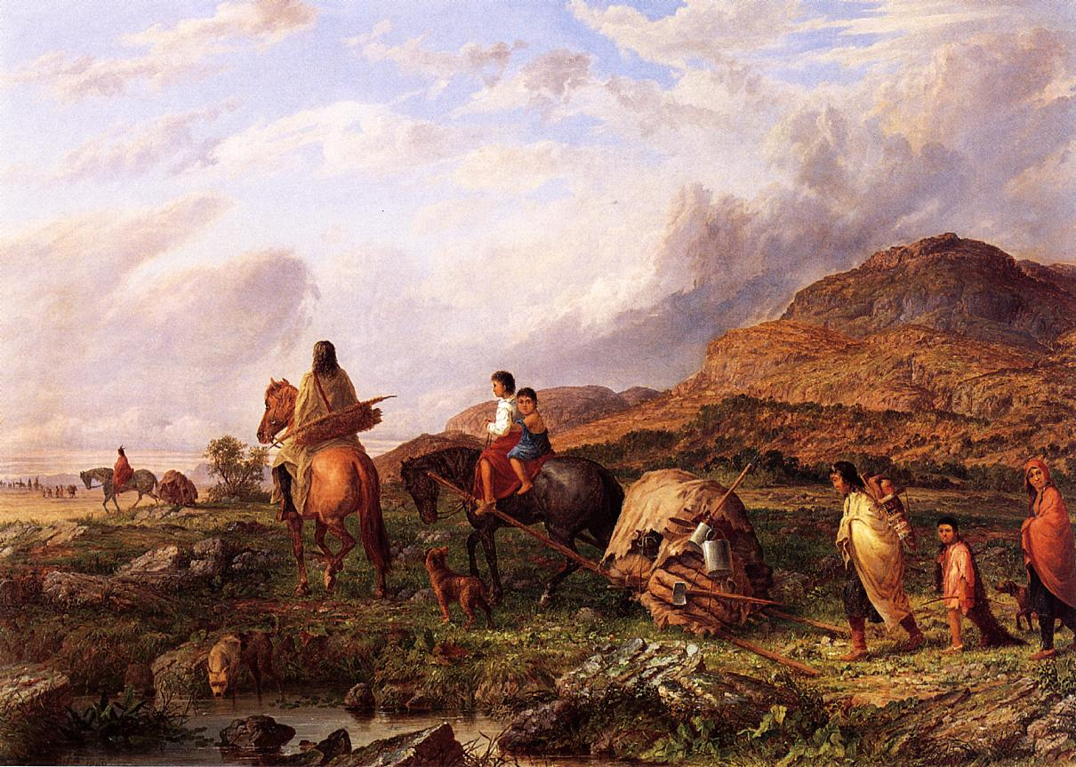 Indian-Mode-of-Transportation-Seth-Eastman-oil-painting-2