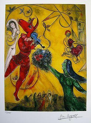 Marc-Chagall-Facsimile-Art-Dance-The-font-b-Circus-b-font-font-b-Oil-b-font
