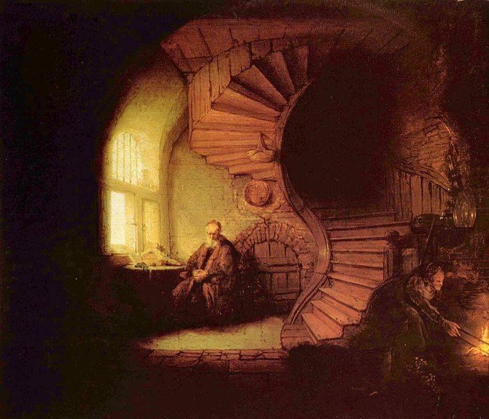 Philosopher Meditating Rembrandt van Rijn