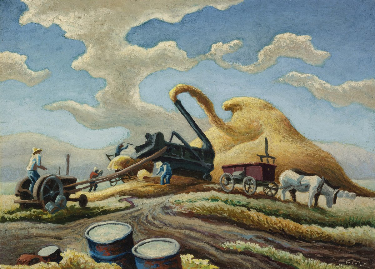 Thomas-Hart-Benton-Rice-Threshing
