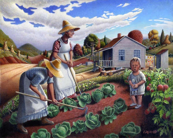 family-vegetable-garden-farm-landscape-gardening-childhood-memories-flashback-homestead-walt-curlee