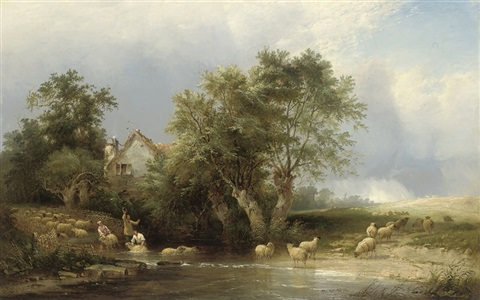 henry-john-boddington-dipping-the-sheep