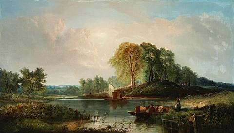 henry-john-boddington-sheep-being-ferried-across-a-river