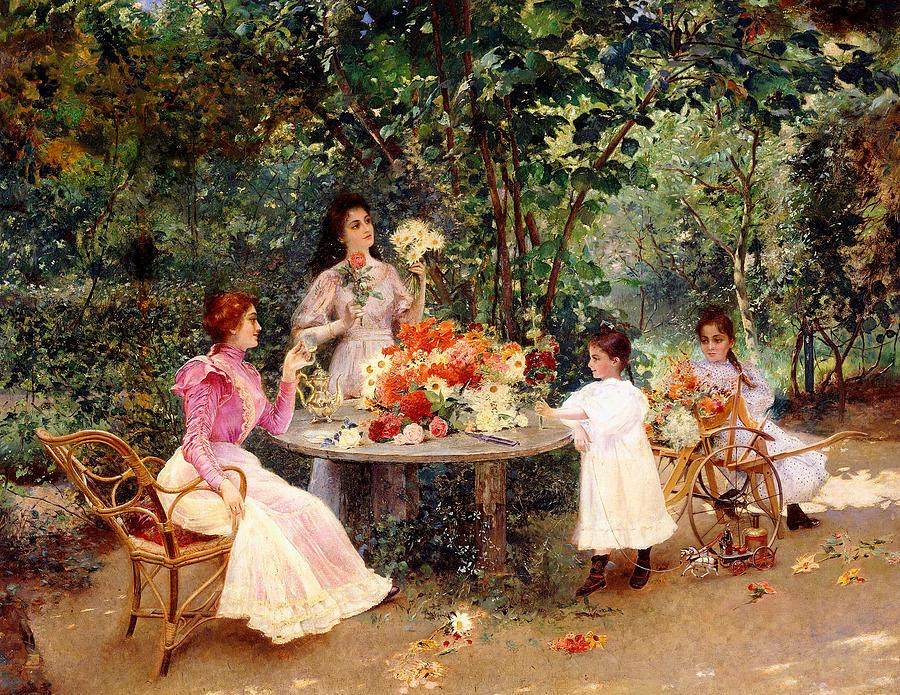 teatime-in-the-garden-edouard-frederic-wilhelm-richter-