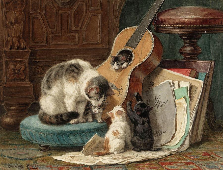 the-musicians-henriette-ronner-knip