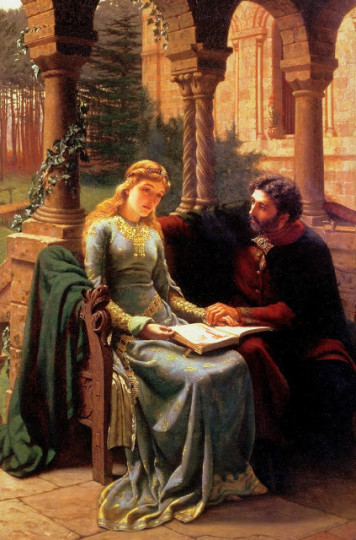 Edmund Blair Leighton Historical Genre English 1852-1922 5 stars [phistars.com] Abelard and his Pupil Heloise