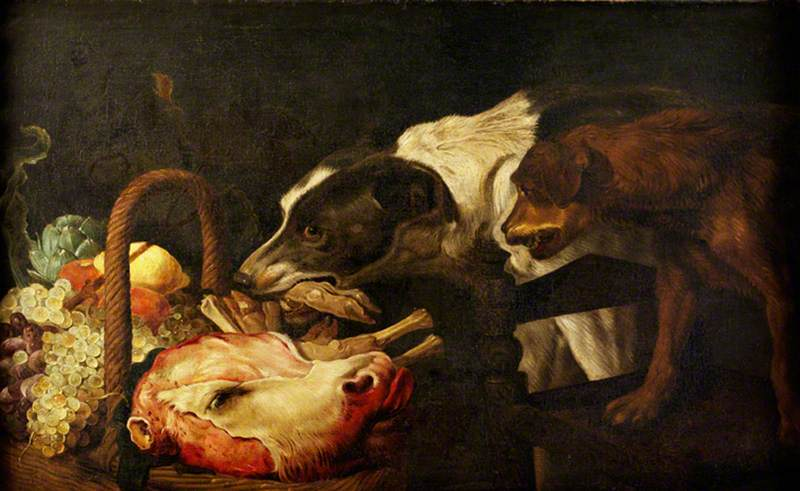 Snyders, Frans, 1579-1657; Dogs Stealing Food from a Basket