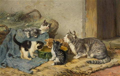 julius-adam-the-younger-katzenfamilie-(the-cat-family)