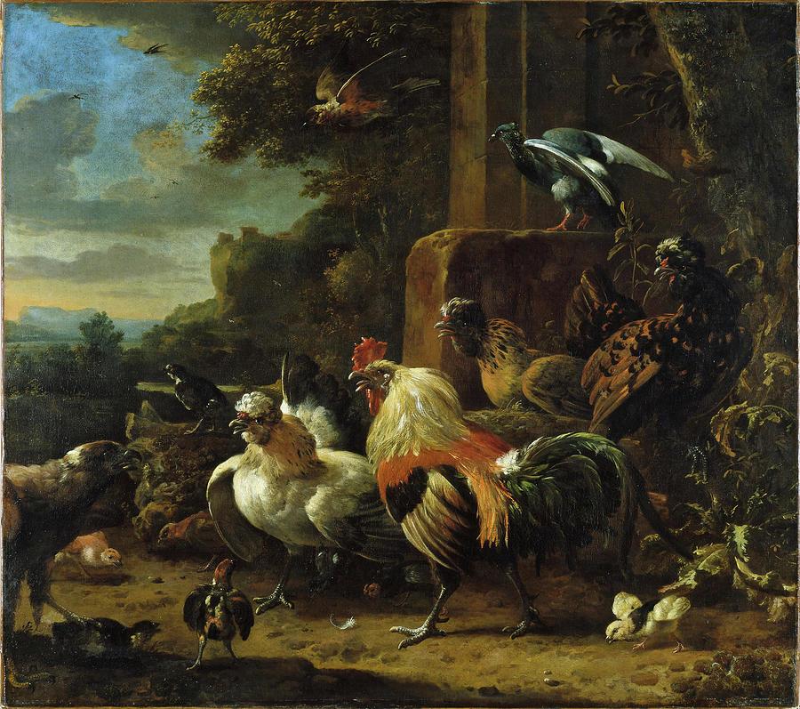 melchior-de-hondecoeter-utrecht-1636-amsterdam-1695--landscape-with-poultry-and-birds-of-prey-melchior-d-hondecoeter-c-1636-1695