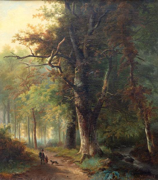 te-koop-bosgezicht-van-barend-hendrik-koekkoek-1849-1909