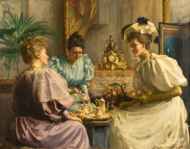 5-OClock-Tea-by-David-Comba-Adamson-1859-1926-via-Dundee-Art-Gallery-and-Museum-e1531720084862