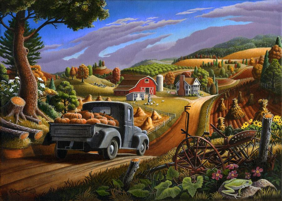 5x7-greeting-card-rural-country-farm-pumpkins-landscape-walt-curlee