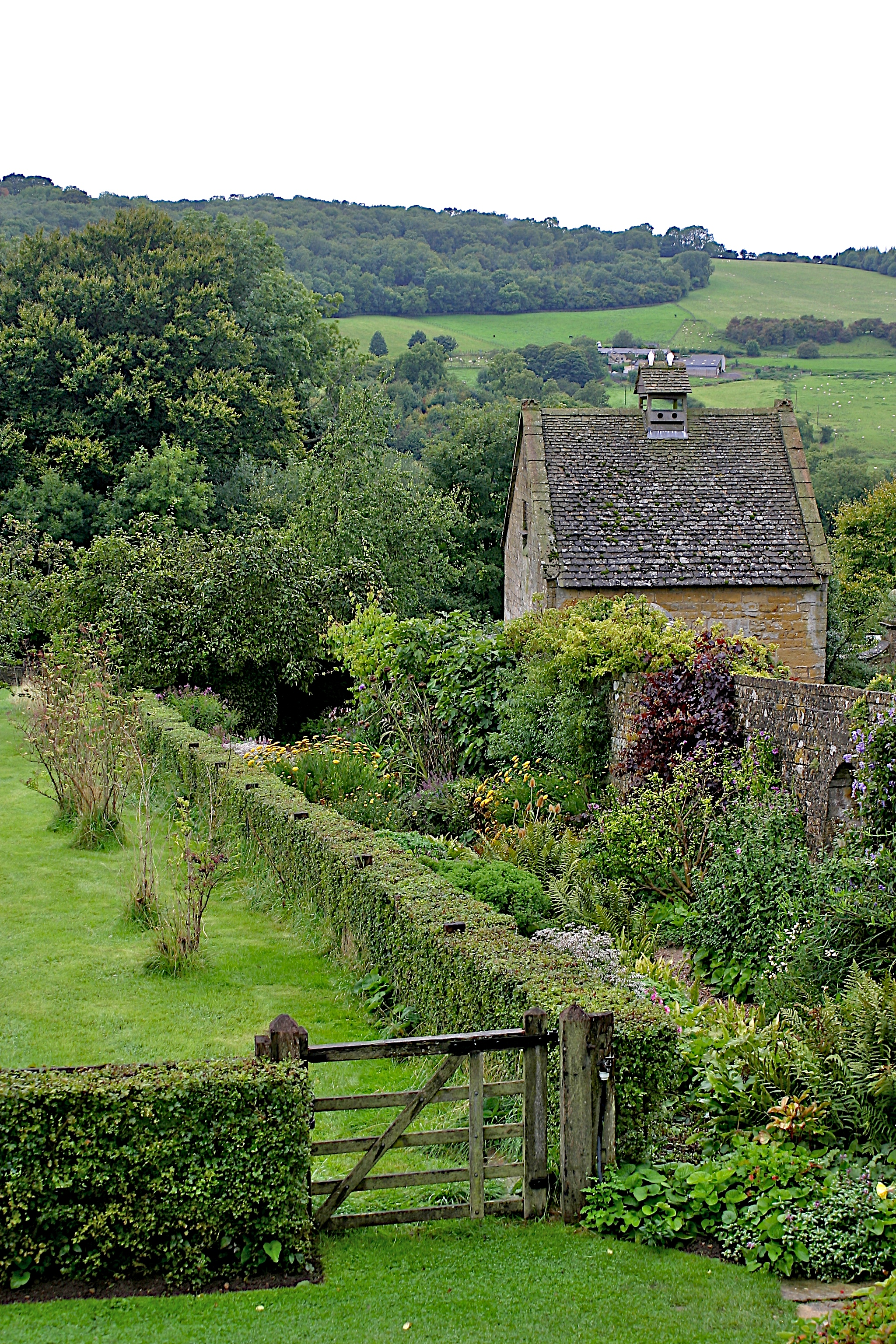 Garden at Snowshill Manor, looking west