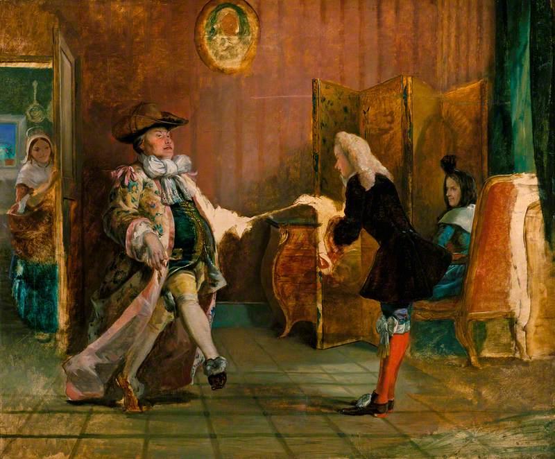 Frith, William Powell, 1819-1909; Monsieur Jourdain's Dancing Lesson