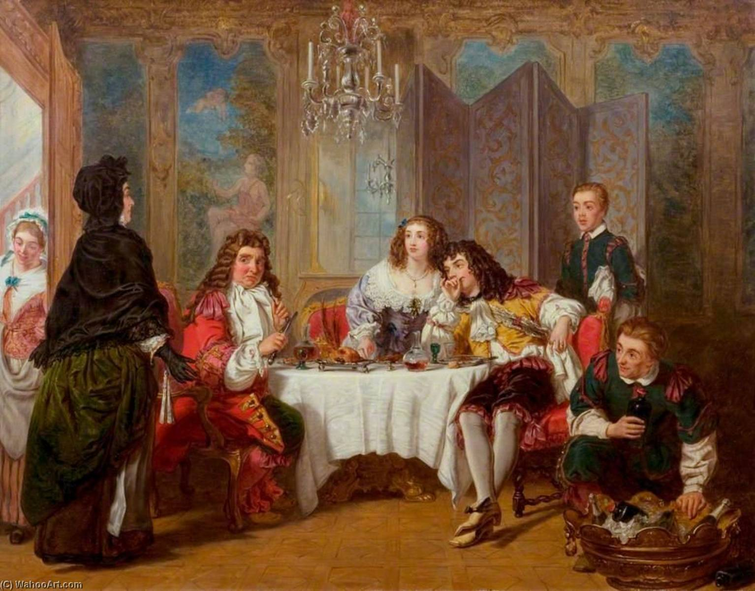 William-Powell-Frith-Madame-Jourdain-Finds-Her-Husband-Entertaining-Dorimene-and-Dorante