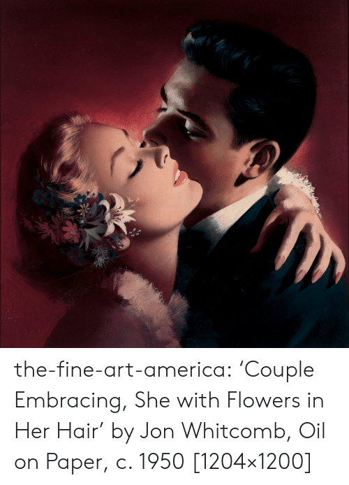the-fine-art-america-'couple-embracing-she-with-flowers-in-her-hair'-by-55089580