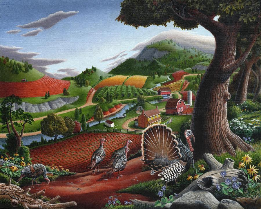 wild-turkeys-appalachian-thanksgiving-landscape-childhood-memories-country-life-americana-walt-curlee
