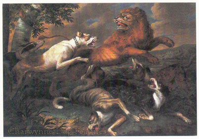 491-3 Lion Hunt by de Vos, 1603