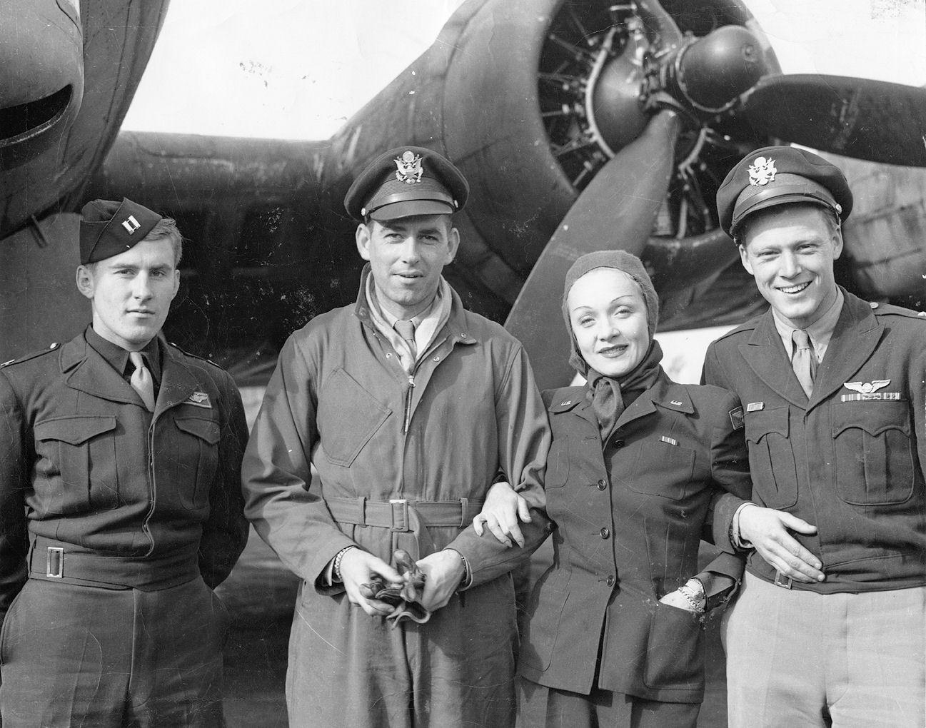 RAF_Deenethorpe_-_401st_Bombardment_Group_Marlene_Dietrich
