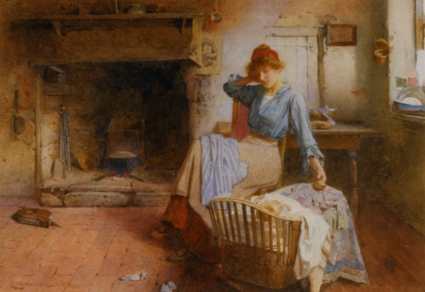 Smith_Carlton_Alfred_Playtime_1905_Watercolour_on_Canvas-huge