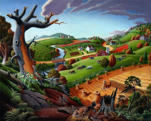 appalachian-fall-thanksgiving-wheat-field-harvest-farm-landscape-painting-rural-americana-autumn-walt-curlee