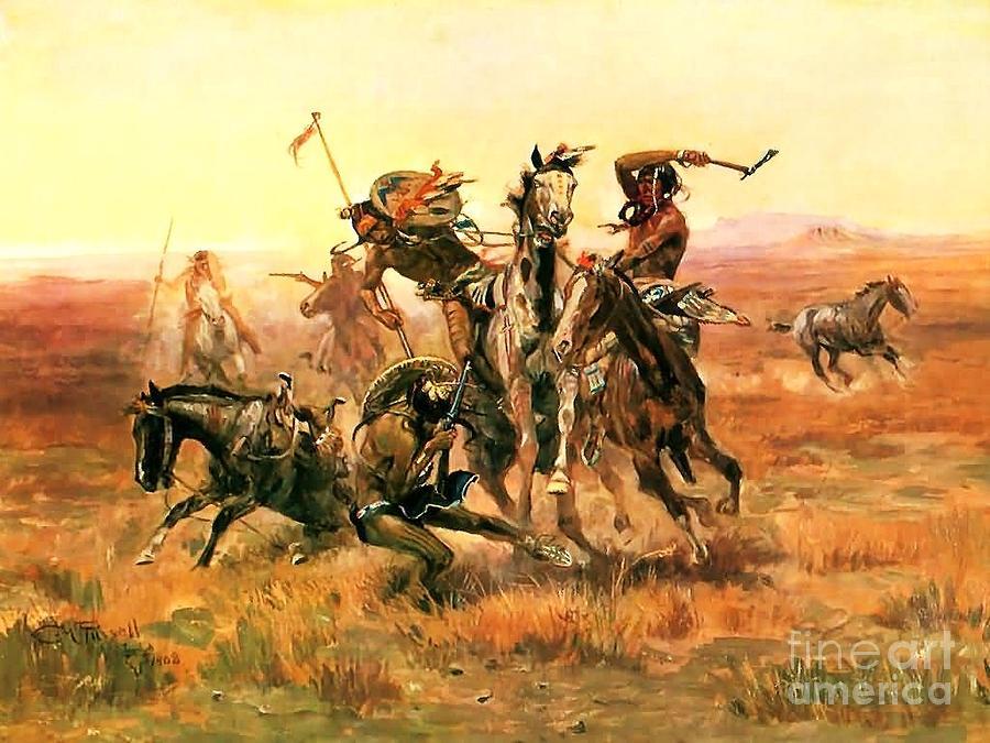 when-blackfeet-meet-sioux-charles-m-russell