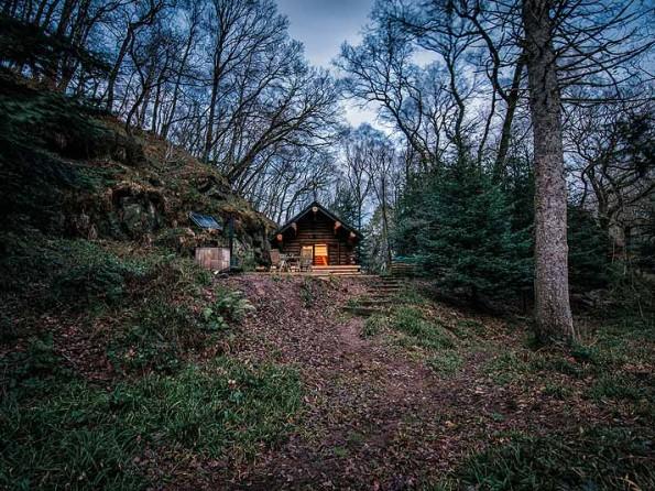 cabin at dusk-595x446