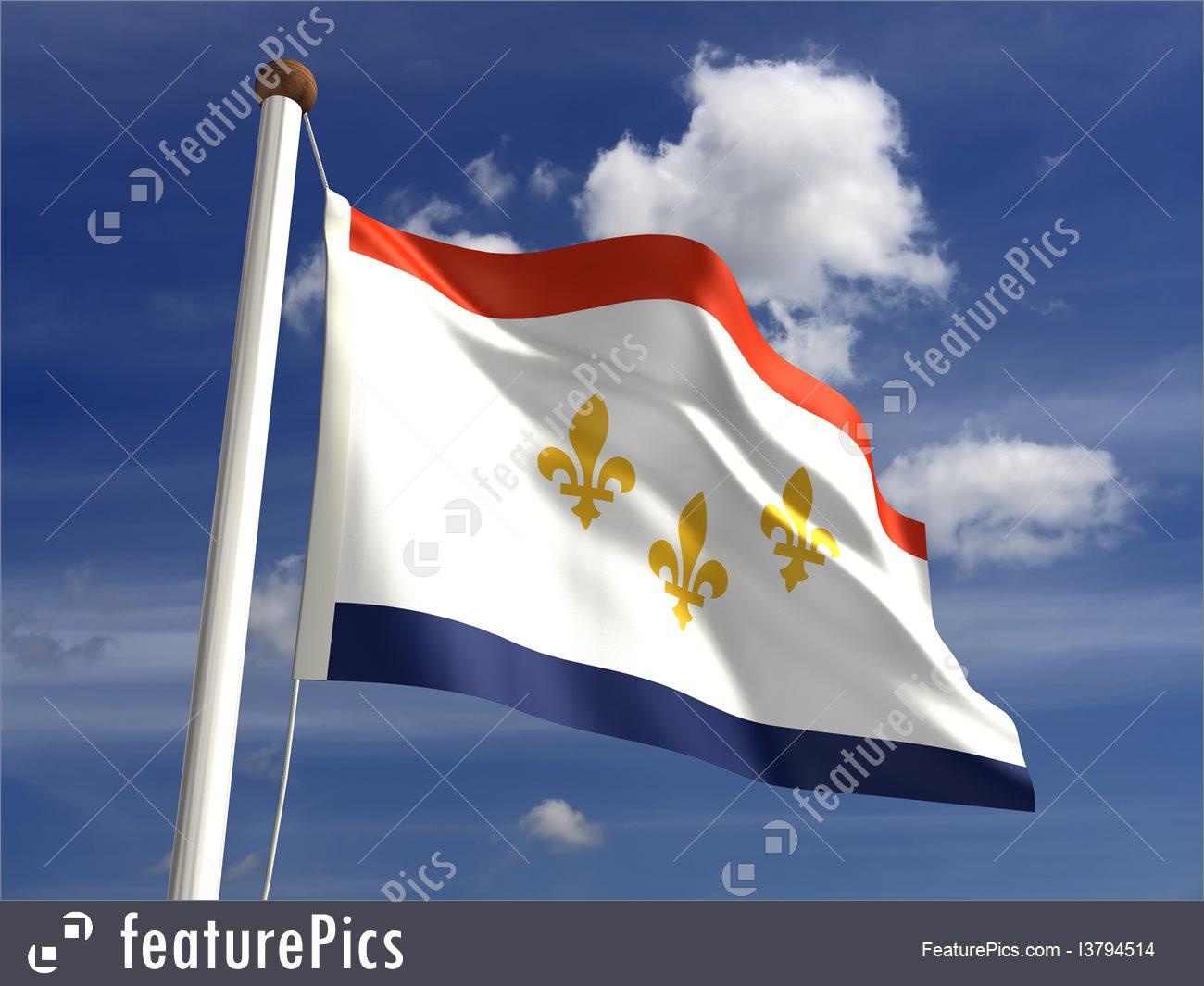 new-orleans-flag-stock-illustration-2794514