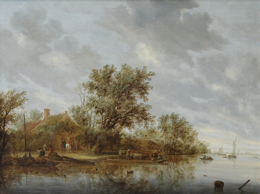 6-river-landscape-with-ferry-salomon-van-ruysdael