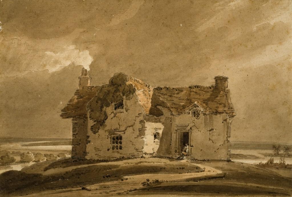 Girtin lanscape with house