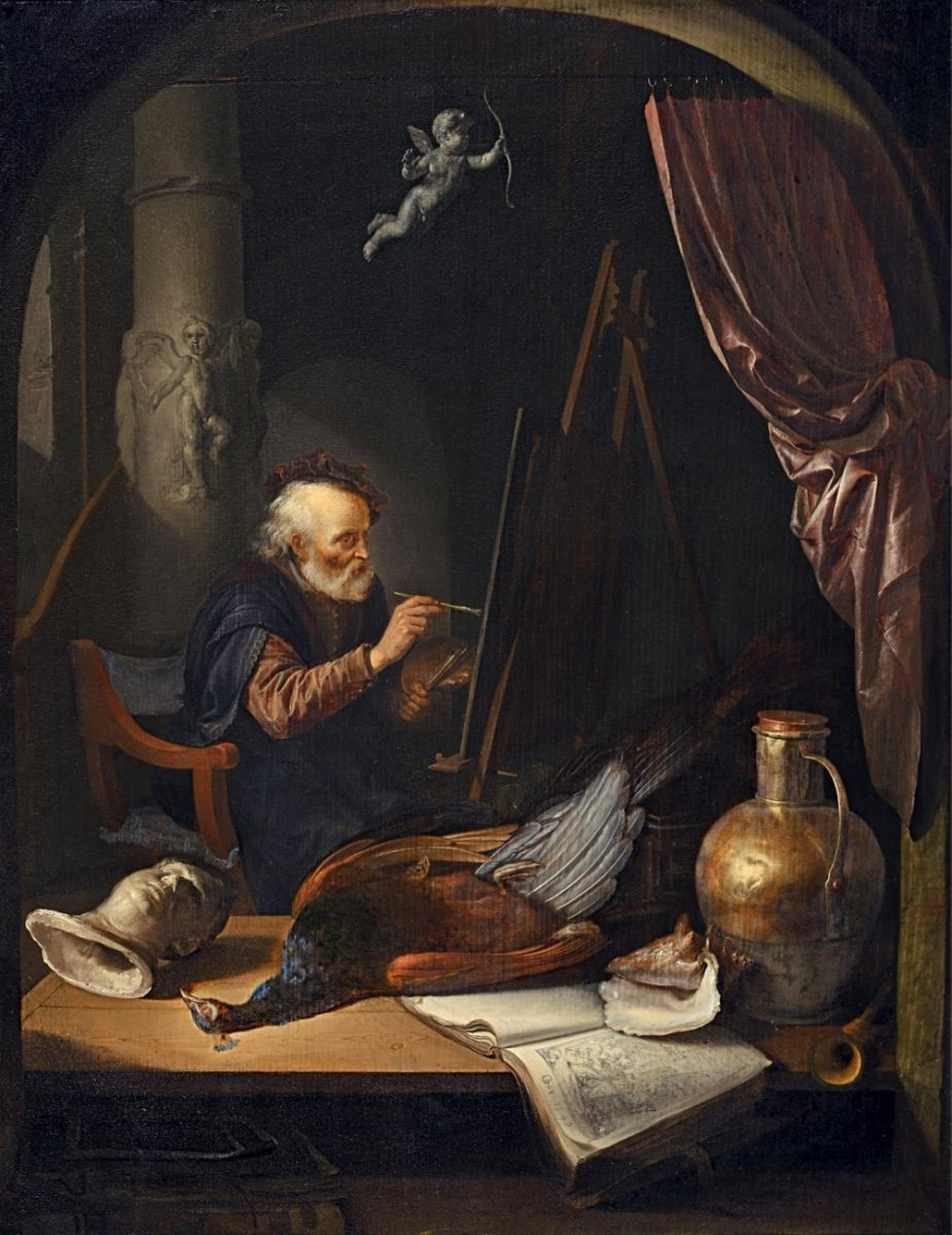 Lempertz-995-1258-Old-Masters-and-19th-Centuries-Paintings-Gerard-Dou-Painter-in-his-Studio
