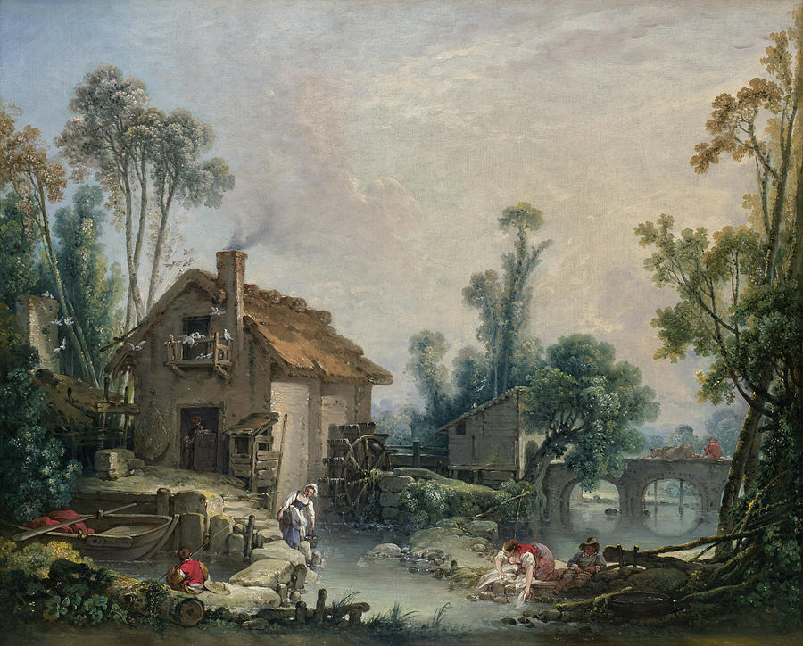 landscape-with-a-watermill-francois-boucher