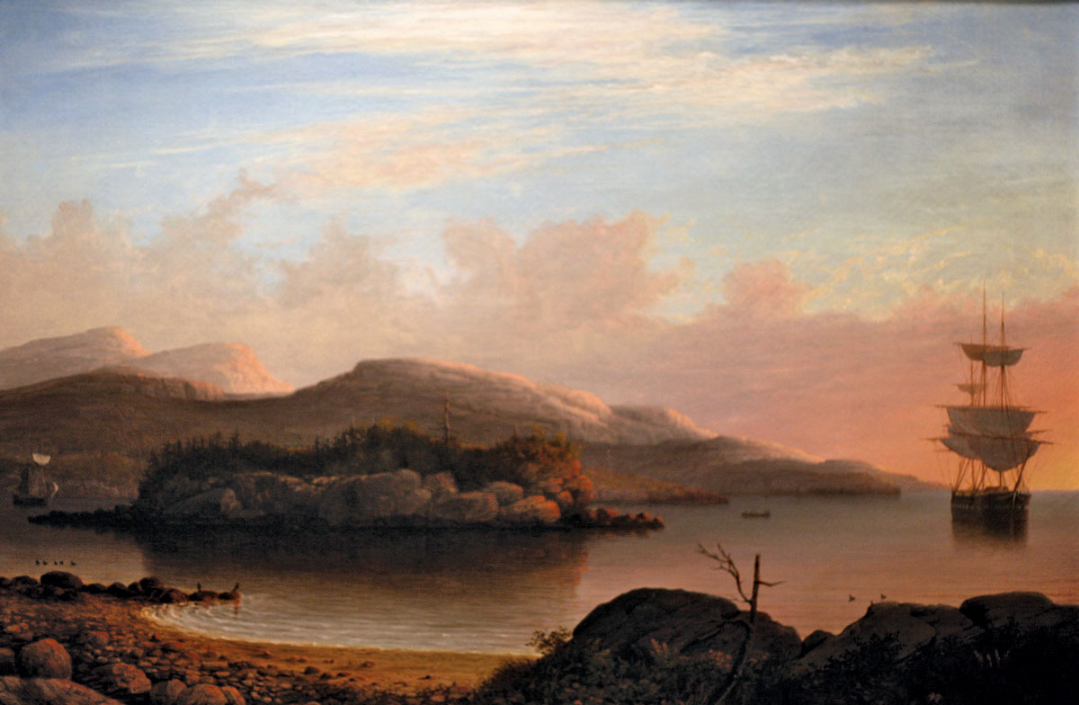 oil-canvas-Mount-Desert-Island-Fitz-Henry-1856