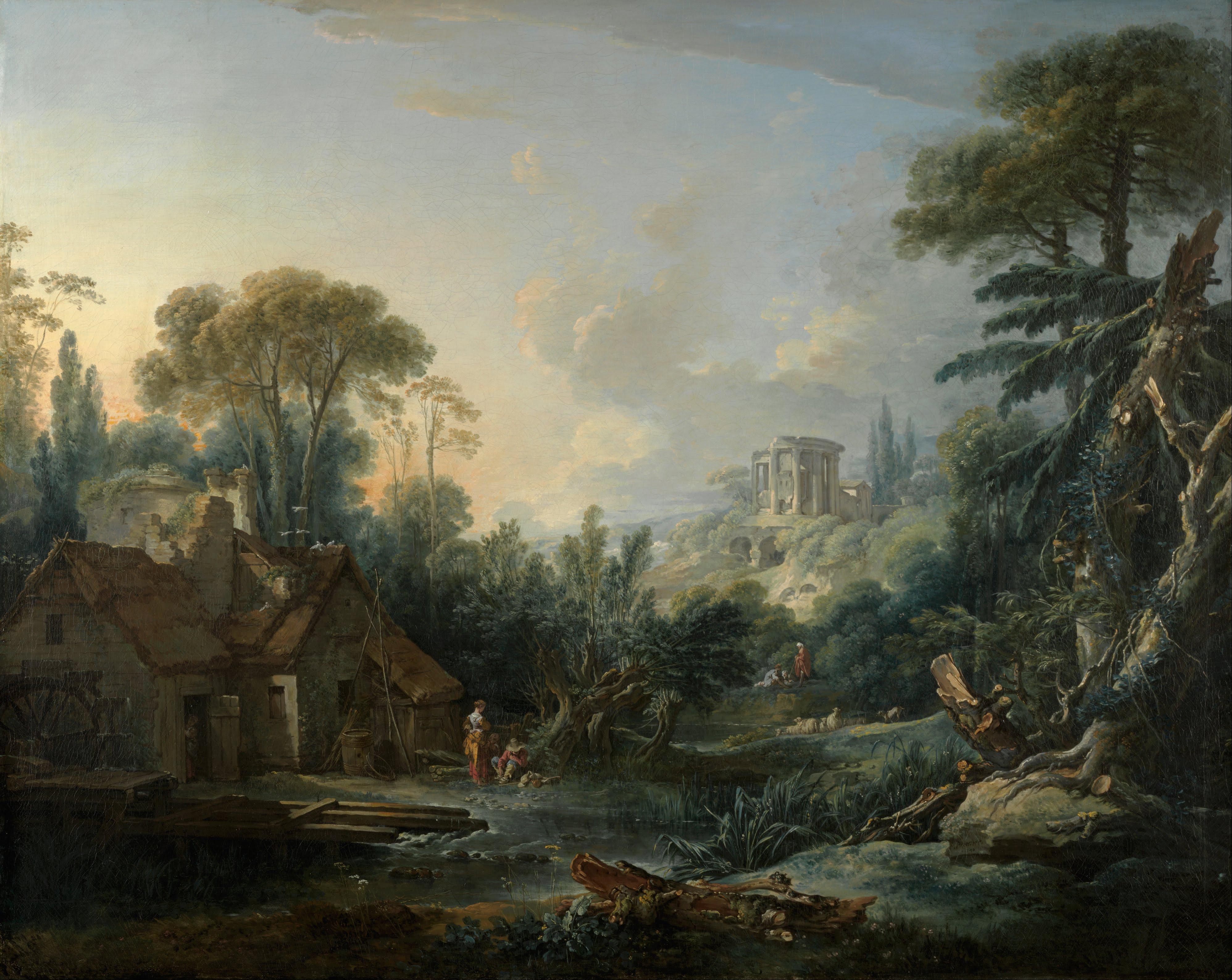 François_Boucher_-_Landscape_with_a_Water_Mill_-_Google_Art_Project