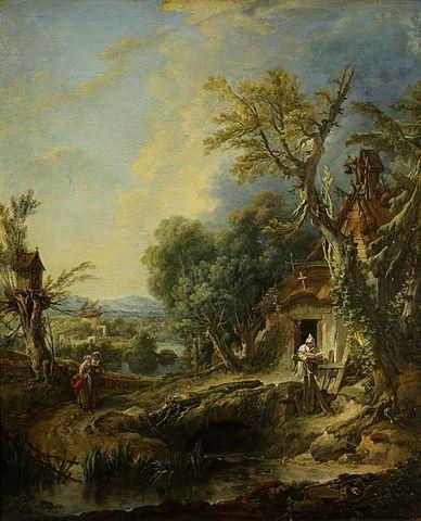 François_Boucher_-_Landscape_with_hermit_(frère_Luce) (1)